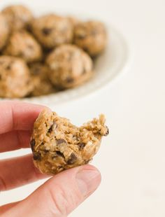 Peanut Butter Chocolate Chip Oatmeal Energy Bites for snacking