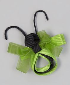Take a look at this Black & Green Dragonfly Clip by Pippytoes on #zulily today!