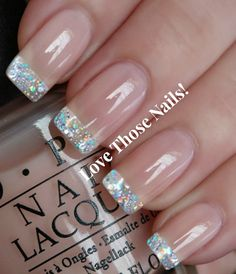 Nails French Manicure farbige Spitzen Schaumbäder Ideen Taking Care of Your Hair with French Nails, French Manicure Nail Designs, Manicure Colors, Manicure And Pedicure, Nail Colors, Nail Art Designs, French Manicures, Nails Design, Glitter French Manicure