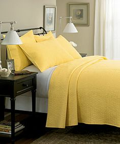 Solid Sateen Yellow Quilt Set | Overstock.com Shopping - Great Deals on Quilts