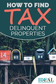 One of the best sources of leads is tax delinquent properties. These are when the owners owe taxes to the city or state and are in danger of losing their house to the municipal government. See how to find tax-delinquent properties. Income Property, Investment Property, Rental Property, Real Estate Business, Real Estate Investor, Real Estate Marketing, How To Find Tax, How To Buy Land, Real Estate Leads