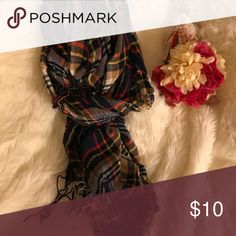 Plaid scarf Lots of colors Brighten up any coat ❤️💙💚💜 Accessories Scarves & Wraps