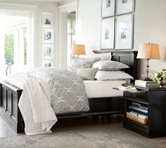 Love these frames w/ oversized mats over the bed.  Lee Gallery Frames | Pottery Barn