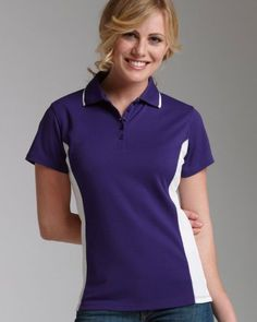 Charles River Apparel Women`s Color Blocked Wicking Polo Shirt. 2810 $19.89