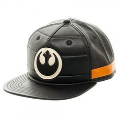 8c940b38b9b Star Wars Black Squadron Snapback Faux Leather Rebel Logo Cap Hat NEW!