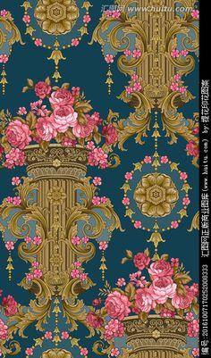 未分层 欧式花卉 手绘牡丹