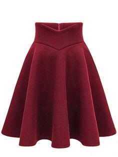 Plain Woolen Flared Midi Skirt Product Name:Plain Woolen Flared Midi SkirtOccasion:DatePackage Included:Bottom / Type:PlainBottom Silhouette(skirts):FlaredLength:Thigh-lengthSeason:Winter Midi Flare Skirt, Pleated Midi Skirt, Dress Skirt, Flared Skirt, Midi Skirts, Jean Skirts, Denim Skirts, Dress Shoes, Shoes Heels