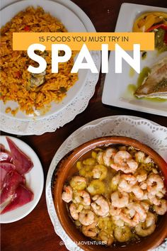 to Eat in Spain - 15 Spanish Foods You Must Try Here's a list of Spanish Foods you must try when visiting Spain //Hères Hères is a commune in the Hautes-Pyrénées department in south-western France. Spanish Cuisine, Spanish Food, Spanish Dishes, Spanish Eyes, Spanish Tapas, Spain Travel Guide, Voyage Europe, Barcelona Spain, Barcelona Trip