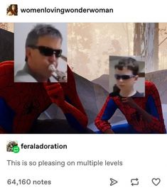 Into the spider verse Spiderman Miles Morales Peter Parker meme fandom geek father and son boy kid children parenting musician music trumpet kitchen vine Dankest Memes, Funny Memes, Hilarious, Marvel, Spider Verse, My Guy, Tumblr Posts, Funny Stuff, Funny Things