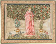 The Minstrel Designed in 1899 By William Morris  and J.H.Dearle   Woven in France