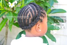 Cornrowed Headband: Our Back-to-School Hairstyle Update | Chocolate Hair / Vanilla Care