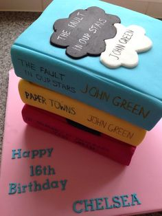 20 Book Cakes You Will Absolutely Adore! This one is a The Fault in Our Stars Cake