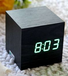 This wooden clock has a great texture and display