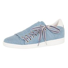 Comptoir Des Cotonniers Denim Slash Sneakers ($120) ❤ liked on Polyvore featuring shoes, sneakers, blue jean, blue sneakers, denim sneakers, patterned shoes, denim shoes and print sneakers