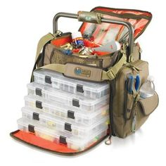 Wild River Tackle Tek Frontier Lighted Tackle Bag 5 Trays