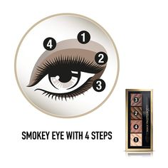 Refresh your seasonal look with a super matte finish and defined brows with Max Factor Smokey Eye Matte Drama Kit. Transform your look in 4 easy steps, all from a single palette. ...