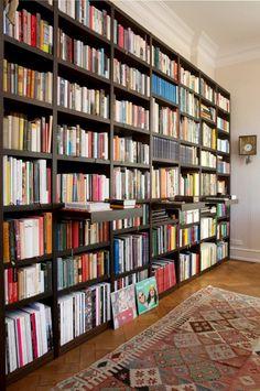 Ideas Home Library Ideas Book Lovers Bookshelf Wall Library Bookshelves, Bookshelf Design, Built In Bookcase, Bookcases, Bookshelf Wall, Large Bookcase, Library Room, Dream Library, Home Library Design