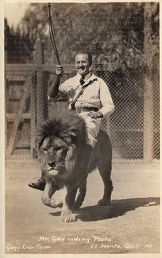 In the olden days, we didn't have cars... lion riding, lion hunting, safari. british empire