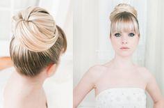 high ballerina bun