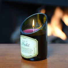 Special value Wine Bottle Candle set - very popular. Makes a perfect special occasion or thank you gift. Also great for Engagement, Wedding and Anniversary parties. These are very unique wine bottle candles. Unlike all the others for sale, the top is cut an angle to give the flame a nice back glow. The scent is incredible. It fills a large room even when unlit. The candle set is very well priced and is a great buy. You can also buy individual Wine Bottle Candles as well as Wine related…