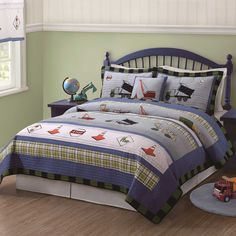 Trucks at Work Full/Queen Quilt and 2 Shams by Pem America: Amazon.co.uk: Kitchen & Home