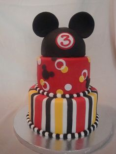 Mickey Mouse Birthday Cake  For my son, Connor