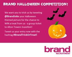 It's 2 weeks until Halloween! We're holding a Halloween Twitter competition, enter now for your chance to WIN a group ticket to Alton Towers Scarefest... #BrandTrickOrTreat http://www.brandrecruitment.co.uk/candidates/brand-social/brand-halloween-twitter-competition-2014/