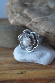 Ring - Wechselring - Blüte Blume Perle von DaiSign auf DaWanda.com