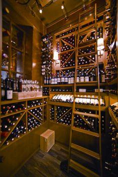 wine cellar at Tellers
