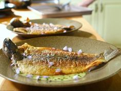 Get Crispy Trout with Kitchen Butter Sauce Recipe from Food Network