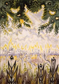 Charles E. Burchfield (1893-1967), Zimmerman Road, 1956; watercolor on paper, 33 x 23 inches