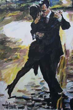 2011 Tango en Passion painting for sale, this painting is available as handmade reproduction. Shop for 2011 Tango en Passion painting and frame at a discount of off. Dance Paintings, Paintings For Sale, Artist Painting, Figure Painting, Tango Art, Tango Dancers, Partner Dance, Argentine Tango, Shall We Dance