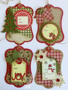 A Paper Melody: Taylored Expressions November Studio Challenge // Christmas gift tags Christmas Paper Crafts, Noel Christmas, Christmas Gift Tags, Xmas Cards, Christmas Projects, Handmade Christmas, Christmas Ornaments, Gift Cards, Christmas Christmas