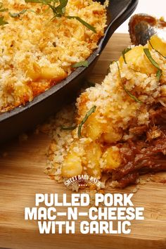 Sweet Baby Ray's BBQ Pulled Pork Mac & Cheese with Garlic Crumbs | Delicious Dinner Recipe