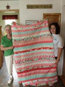strip quilt, you could also do strips the other direction. the colors I want for mine!