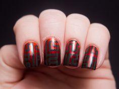 Fiery Gradient Maze - OPI Germany Nail Art