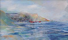 Vaporul roșu în port – Viorica Petrovici | EliteArtGallery - galerie de artă