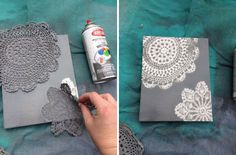 Doily Canvas Art DIY Tutorial / Hip Home Making