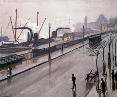 The port of Hamburg, Oil by Albert Marquet (1875-1947, France)