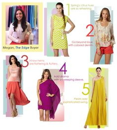 http://community.dillards.com Dillard's blog spring color tips. Brights and blocks over pastels-nice change for this time of year.