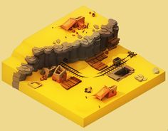 Isometric desert, create for a video game design, in Game Environment, Environment Concept Art, Environment Design, Isometric Art, Isometric Design, Game Level Design, Game Design, 3d Cinema, Rpg
