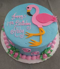 Vintage Bakery, LLC. Columbia SC Region. Pink Flamingo is a Cheerful and Fun Cake. (803) 386-8806 www.VintageBakery.com