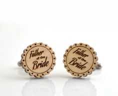 Wedding WOOD Cufflinks  Father of the Bride by GothChicAccessories, $25.00