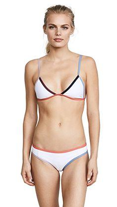a10c1ec7a92c9b TAVIK SWIMWEAR WHITE COLORBLOCK JETT BIKINI TOP. #tavikswimwear #cloth #