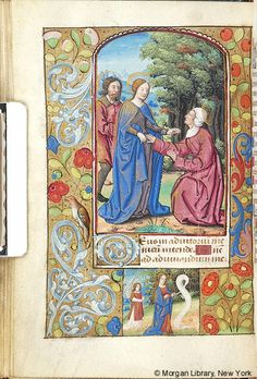 Book of Hours, MS M.174 fol. 28v - Images from Medieval and Renaissance Manuscripts - The Morgan Library & Museum