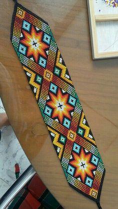 off loom beading stitches Loom Bracelet Patterns, Seed Bead Patterns, Bead Loom Bracelets, Jewelry Patterns, Beading Patterns, Beading Ideas, Indian Beadwork, Native Beadwork, Broderie Bargello