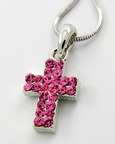 Cross Pendant Necklace Pink Things, Little Things, Pretty Little, Pretty In Pink, Pink Topaz, My Signature, Christian Jewelry, Cross Pendant, Crosses