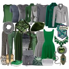 """Slytherin capsule"" by domino-80 on Polyvore"