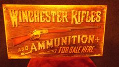 Winchester Rifles Ammunition Tin Metal Sign Guns Ammo Hunting Rustic Collectable   eBay