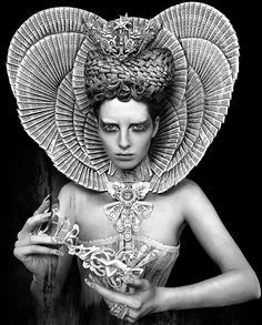"Model - Ashleigh Chase  Photography - Kirsty Mitchell  MUA - Elbie MakeUpProfile  in ""The white Queen"""